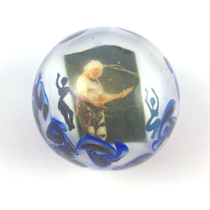 Image in glass Marble Tribute to Jerry Garcia Love