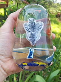 Image in glass  Spirit in the volcano