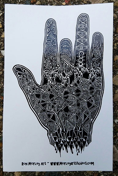 Ron Morley Jerry Garcia hand
