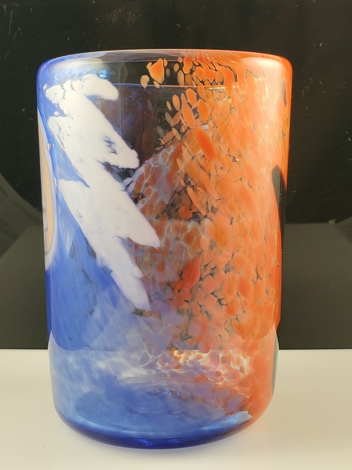 Glass - Grateful Dead imagery drinking Glass