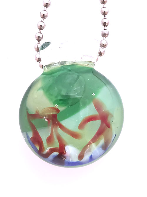 Green Sky Blue grass pendant