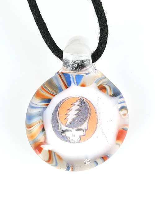 Steal your face glass pendant