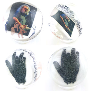 Image in glass Marble Tribute to Jerry Garcia